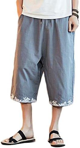 メンズ ワイドパンツ 夏 7分丈 サルエル パンツ ゆったり 夏 パンツ 短パン ショートパンツリゾート ビーチ 大きいサイズ