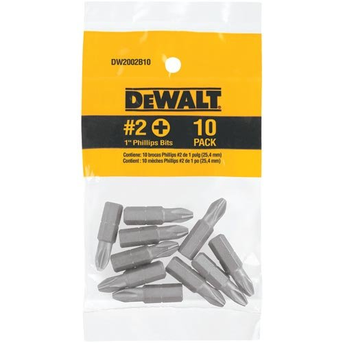 Impact Ready Bit Tip (DEWALT DW2002IR10 1-Inch No. 2 Phillips IMPACT READY Bit Tips, 10-Pack)
