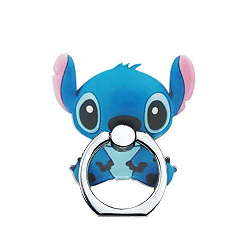 ZOEAST(TM) Phone Ring Disney Cartoon Mickey Universal 360° Rotating Phone Buckle Tablet Finger Grip Ring Stand Holder Kickstand Tablet Compatible with iPhone 6S SE 7 8 Plus X Android iPad (Stitch)