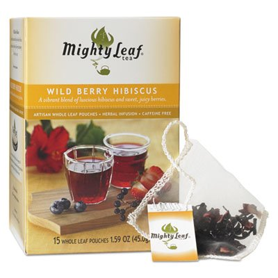 Wild Leaf (Whole Leaf Tea Pouches, Wild Berry Hibiscus, 15/Box)