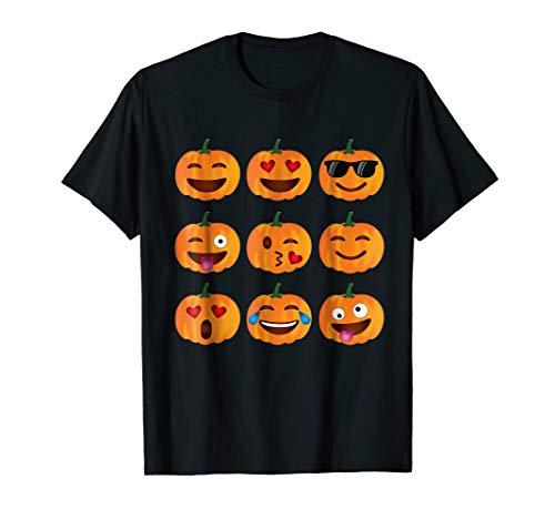 Pumpkin Emoji T-Shirt, Pumpkin Shirt Emoji Halloween -