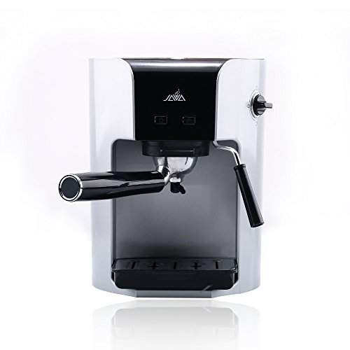 Java WSD18-050 Semi Auto ESPRESSO Coffee Maker With Milk Frother Coffee Pod Coffee Power Hard Capsule Drip Coffee Machine,Silver
