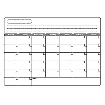 villexun Monatliche Dry Erase Kühlschrank Whiteboard Menu Planner ...
