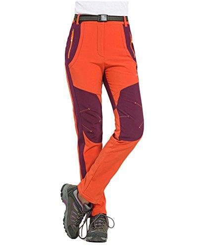Trousers Waterproof Pants Climbing Elasticity Women Women's Red Keep Outdoor Couple Warm Men's Z ZongSen Breathable qYPzwxEtq