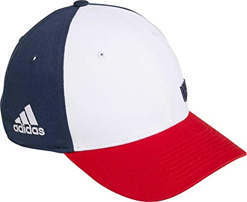 adidas Men's Colorblock Crestable USA Golf Hat (Mineral Bl/Collegiate Red, OneSize)