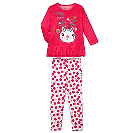 206a70c61043d Pyjama fille manches longues Happy Noël - Taille - 2/3 ans (92/98 cm ...