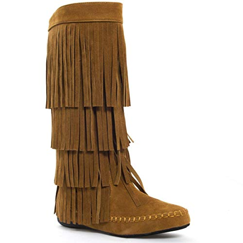 Yoki Womens Closed Toe Mid Calf Knee High Moccasin for sale  Delivered anywhere in Canada