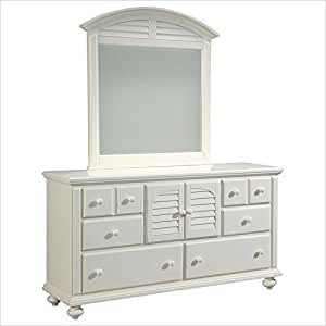 Broyhill seabrooke door dresser and mirror in for Bedroom furniture amazon