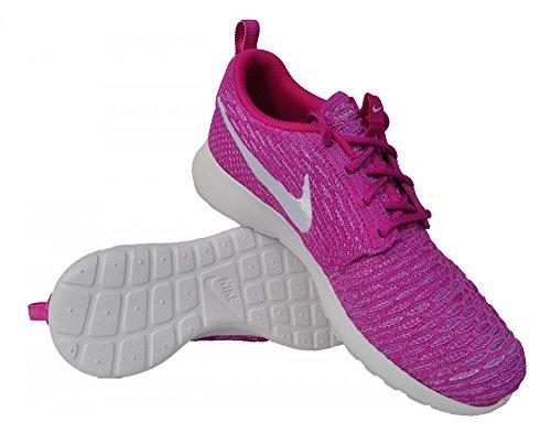 Nike Womens Wmns Roshe Uno Flyknit Fucsia Flash / gioco Royal-nero Tessuto Size 5.5