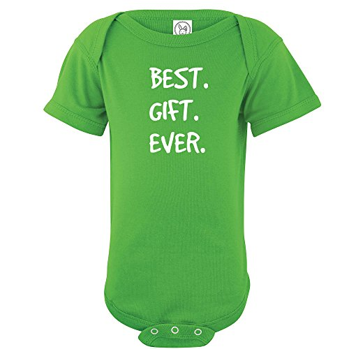 Price comparison product image Crazy Bros Tees Best. Gift. Ever Funny Cute Novelty Christmas Infant One-Piece Baby Bodysuit (Newborn, Apple Green)