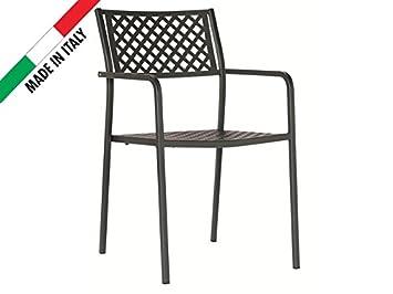 Chaise Empilable Design Moderne Motif Croisillons En Mtal Et Fer Usage