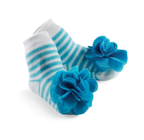 Mud Pie Princess Stacy Blue Sock, Blue, 0-12 Months