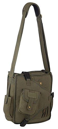 Vintage Canvas Urban Multi Pocket Cross Body Messenger Shoulder Bag