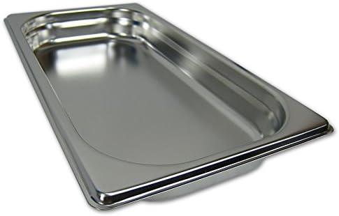 GN 1//3 Gastronormbeh/älter GN-Beh/älter Edelstahl 1,5 Liter Tiefe 40mm Gastronorm gelocht.