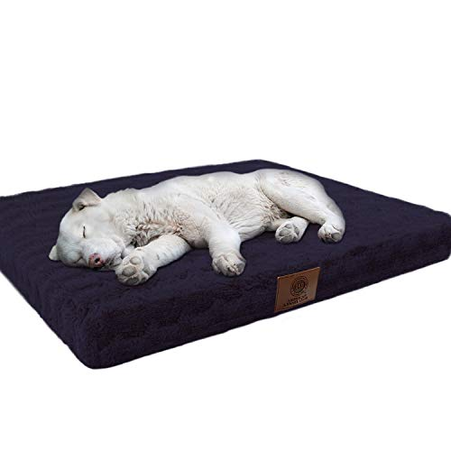(American Kennel Club Orthopedic Crate Mat, 23 by 36-Inch, Navy)