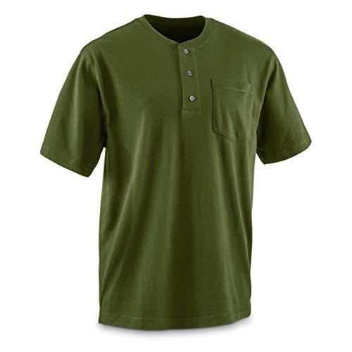 Guide Gear Men's Stain Kicker Henley Pocket T Shirt with Teflon - Kicker Gear