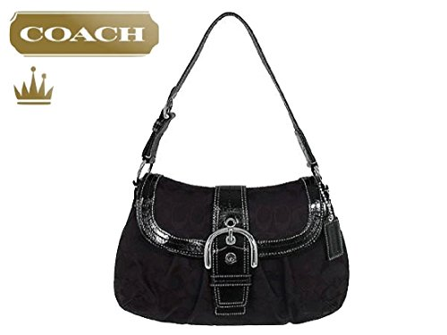 ignature Jacquard Flap Handbag, Black 13729 (Soho Flap Handbag)