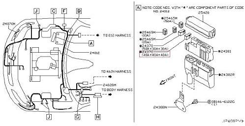 40 40 40 SET 1PC Fusible Link 24370-C9900 For Nissan Infiniti Mitsubishi Airtrek
