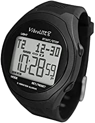 VibraLITE 8 - Vibrating Reminder Watch with Black Silicone Strap