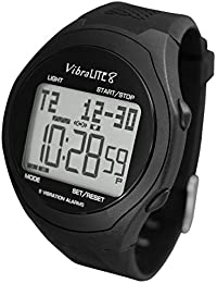 8 - Vibrating Reminder Watch with Black Silicone Strap