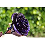Personalized-Gift-Hand-Forged-Wrought-Iron-Purple-Metal-Rose-Valentines-Day-Gift