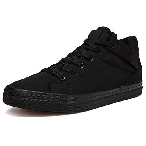 Lienzo Hombres Zapatillas Transpirable Otoño Negro Casual Zapatos ZOqtF