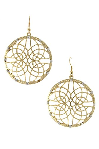Trifari Clear Rhinestone (KARMAS CANVAS HIGH SOCIETY FILIGREE W/ RHINESTONE DROP EARRING)
