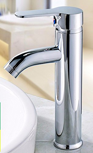 ZPPZP Stainless Steel hot and cold Single Hole a raised Washbasin Faucet by AWXJX Sink faucet