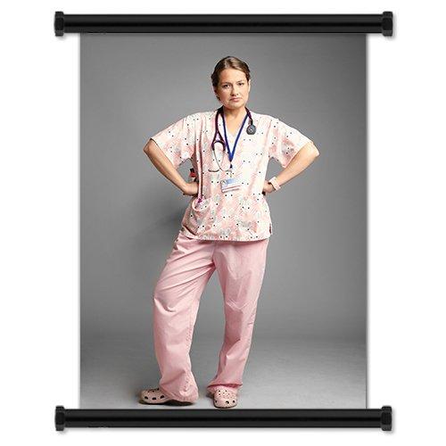 "Nurse Jackie TV Show Season 3 Fabric Wall Scroll Poster (32"" X 43"") Inches"