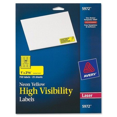 Avery High Visibility Labels Rectangle