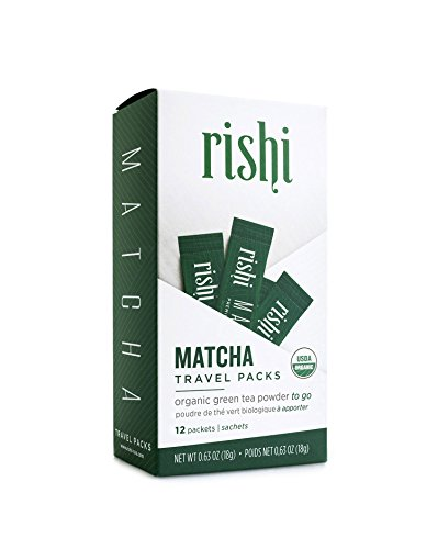 (Rishi Matcha Travel Packs, Organic Green Tea Powder, 12 Packets)