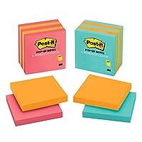 Notas emergentes post-it, la nota adhesiva favorita n. ° 1 de América, 3 en x 3 pulgadas, colores surtidos, 5 almohadillas /paquete (3301-5ALT-M)