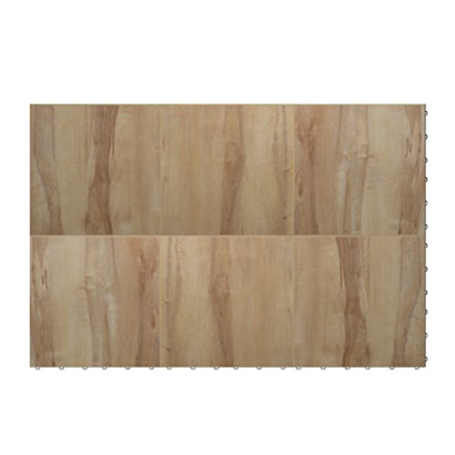 "Swisstrax ¾"" thick Interlocking ""Hardwood"" Floor Tiles (3' x 4' Section) - Dance Floors, Office Areas, Event Floors & more! (Light Maple) by Swisstrax"