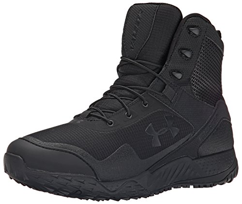 (Under Armour Men's Valsetz RTS Side Zip Military and Tactical Boot, (001)/Black, 11.5)