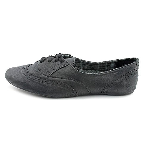 durable service Not Rated White Tie Womens Size 6 Black Wingtip Faux Leather Oxfords Shoes UK 4