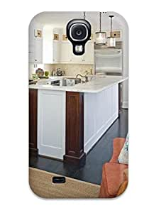 ElsieJM Galaxy S4 Well-designed Hard Case Cover White Kitchen With Counter To Ceiling Glass Cabinets And Dual Chandelier Protector by Maris's Diary