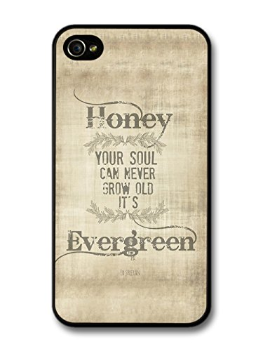 Ed Sheeran Evergreen Thinking Out Loud Song Lyrics coque pour iPhone 4 4S