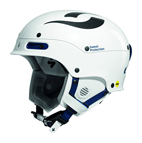 Sweet Protection Women's Trooper II MIPS Ski and Snowboard Helmet, Gloss White Metallic, Medium/Large ()