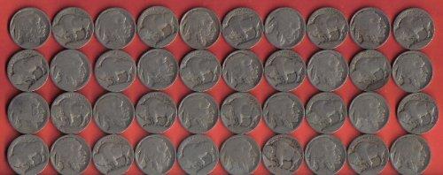 1913 Type (Roll of 40 No Date 1913 Type 1 Buffalo Nickels)