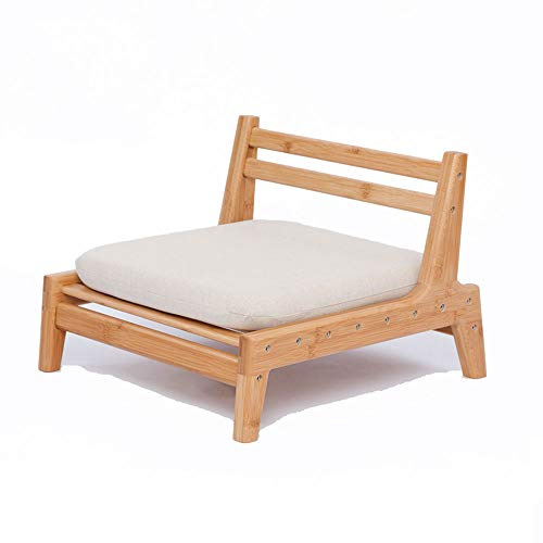 ZEN S BAMBOO Floor Seat Chair for Living Room Japanese Balcony Chair with Cushion Accent Furniture