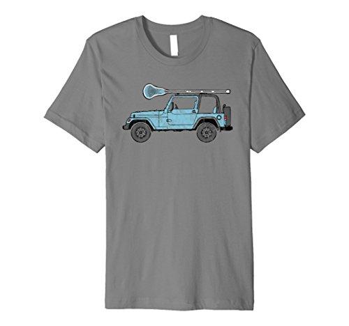 Retro Hippie SUV Off-Road Vehicle Lacrosse Lax T-Shirt