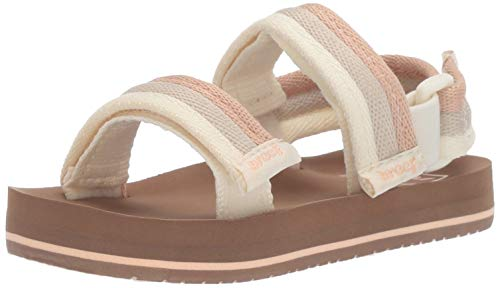 Reef Surf Girls Sandals - Reef Girls' Little AHI Convertible Sandal, Sandy Toes, 056 M US Kid