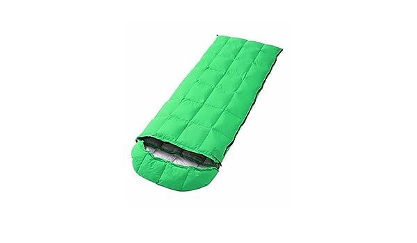 Saco de dormir rectangular bolsa única -5 -- 15 pato abajo 1500 G 180 cmx73 cm Camping/Viajes/al aire libre, azul: Amazon.es: Deportes y aire libre
