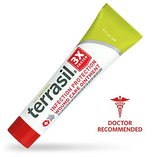 Terrasil® Wound Care MAX - 3X Faster Healing, Dr. Recommended, 100% Guaranteed, Patented, Homeopathic infection bed & pressure sores diabetic wounds venous foot & leg ulcers cuts scrapes ()