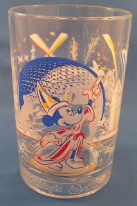 Walt Disney World Epcot 25th Anniversary Remember the Magic with Mickey Mouse Collectors Glass Cup Mug