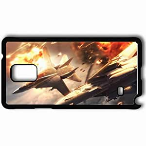 Personalized Samsung Note 4 Cell phone Case/Cover Skin Ace Combat Fighters Explosions Maneuver Fight Black
