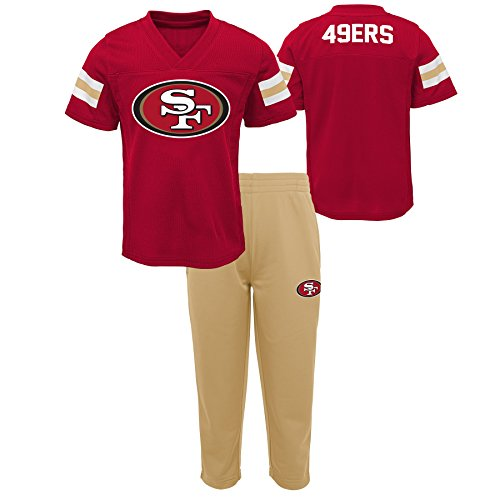 San Francisco 49ers Training Camp - Outerstuff NFL NFL San Francisco 49ers Toddler Training Camp Short Sleeve Top & Pant Set Crimson, 2T