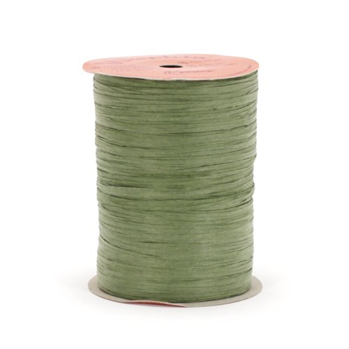 Berwick Wraphia II Matte Paper Craft Ribbon, 100-Yard Spool, Olive Green
