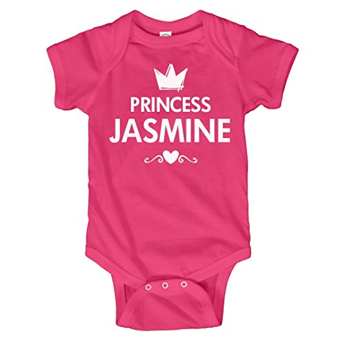 FUNNYSHIRTS.ORG Cute Baby Princess Jasmine With Heart: Infant Rabbit Skins Lap Shoulder Creeper - Princess Jasmine Heart