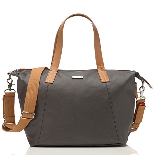 Storksak Noa Shoulder Bag Diaper Bag with Organizer, Grey -  SK5894